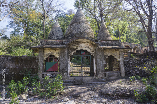 Photo The entrance to now abandoned Maharishi Mahesh Yogi Ashram - Beatles Ashram in Rishikesh