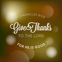 Give Thanks To The Lord Typogr...