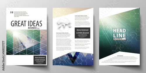 Fotografia  Business templates for brochure, magazine, flyer, booklet, report
