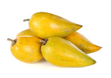 Egg Fruit, Canistel, Yellow Sapote (Pouteria Campechiana (Kunth) Baehni) On White Background