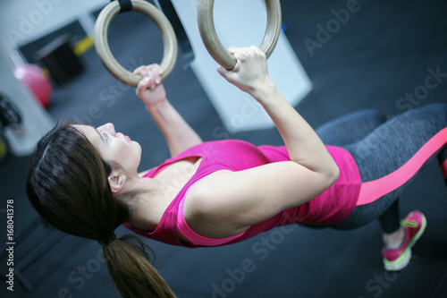 Fotografie, Obraz  Fit young woman workout in gym