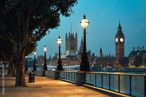 Aluminium Prints London Big Ben and Houses of Parliament