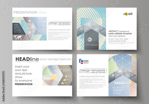 5fb86e26b4a87 Set of business templates for presentation slides. Easy editable abstract  vector layouts in flat style. Minimalistic design with lines