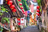 Fototapeta Fototapety na drzwi - Jiufen, Taiwan alleys and steps
