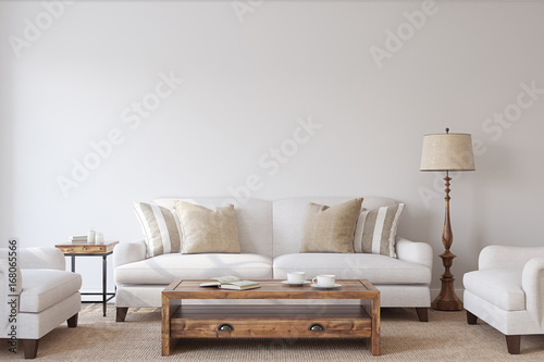 Fotografia  Living-room interior. 3d render.