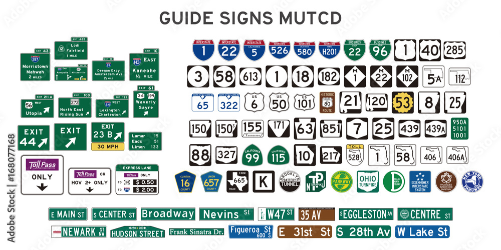 Fototapety, obrazy: guide signs