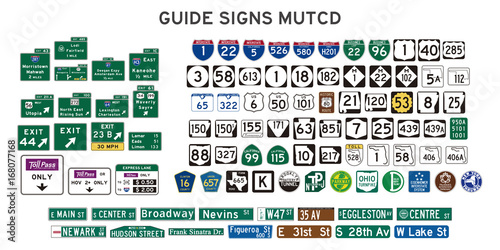 Fotografía  guide signs