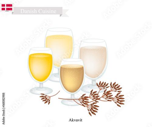 Akvavit or Aquavit, A Traditional Dink in Denmark Canvas Print