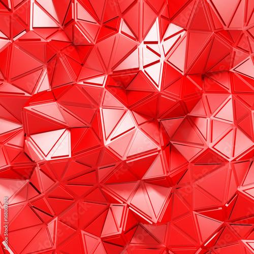 czerwonego-trojboka-poligonu-wzoru-sciany-chaotyczny-tlo