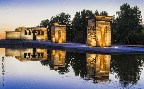 Madrid,templo Debod Canvas Print