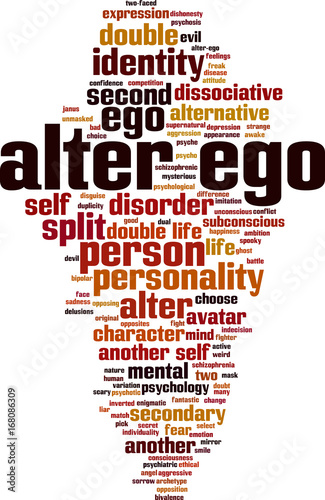 Plakat Alter ego word cloud
