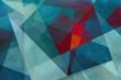 canvas print picture - Geometrische abstrakte Formen - helle Pastelltöne