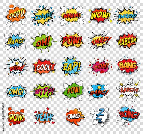 Fotografija Comic speech bubbles or sound replicas