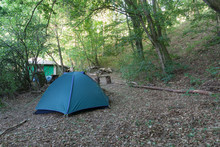 Tourist Camping Tent In The Ca...