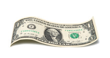 One Dollar On A White Background