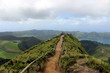 The hiking trail in the lake district of Sete Cidades. San Miguel azores