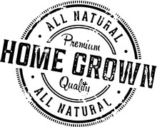 Home Grown Produce Label Stamp
