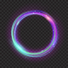 Multicolored Glowing Fire Ring...