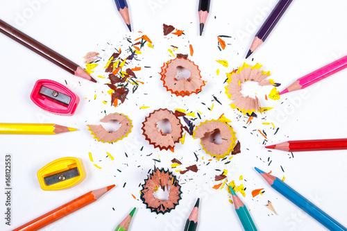 Fotografia, Obraz  School accessories on white background, back to school concept