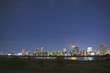 淀川と大阪市内の夜景