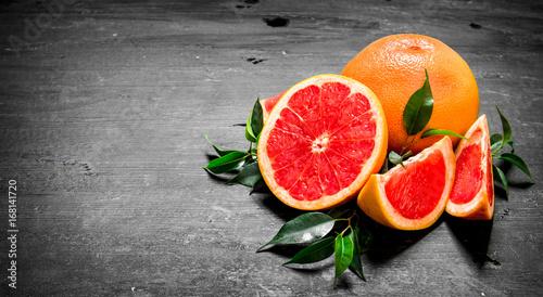 Fotografia  Ripe grapefruits.