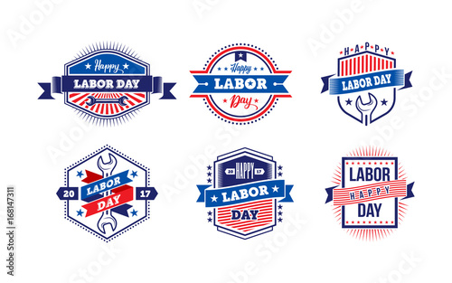 Happy labor dayerica labor day for greeting cardtypography labor america labor day for greeting cardtypography labor day labels or m4hsunfo