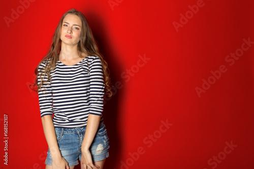 Obraz na plátně  young woman cute