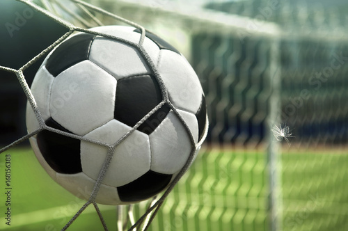 Fototapety, obrazy: The ball is in the net of the goal. Goal!