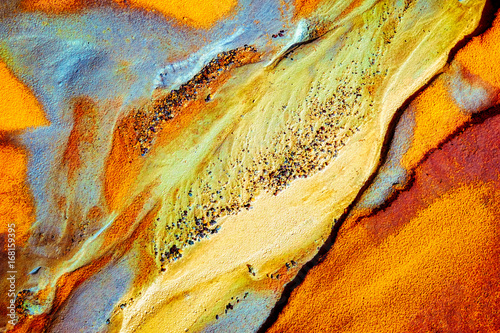 Macro photographie Abstract colors and sand shape