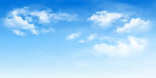 Background With Clouds On Blue...