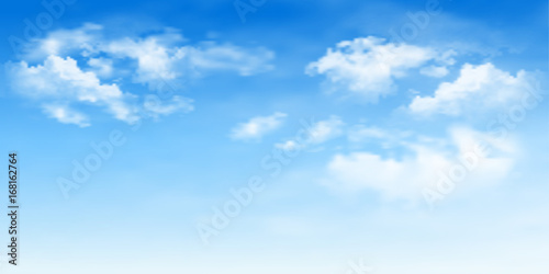 Photo  Background with clouds on blue sky. Blue Sky vector