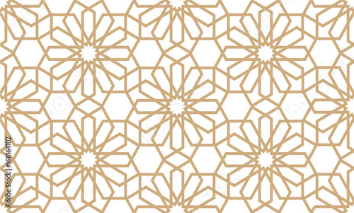 Carta da parati  Geometrical seamless pattern in Arabian style