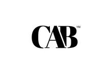 CAB Logo Branding Letter. Vector Graphic Design. Useful As App Icon, Alphabet Combination, Clip-art, And Etc.