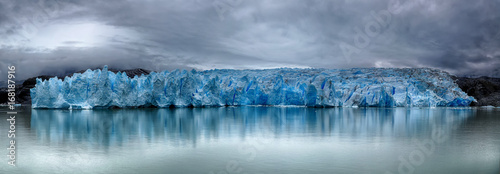Glaciers Front of Grey Glacier at Torres del Paine NP, Patagonia, Chile - HDR panorama