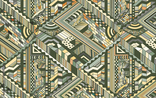 Fotomural Abstract background with optical illusion