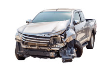 Car Crash Accident Isolated On...