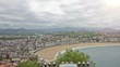 San Sebastian - Donostia, The Basque Country, Spain. Timelapse.