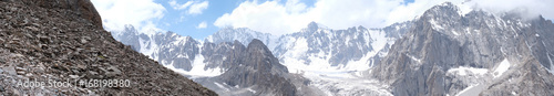 Panorama of high-rise mountains Wallpaper Mural