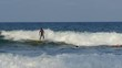 Srilankan guy wave surfing in Arugam Bay Sri Lanka