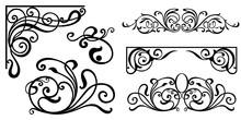 Set Of Vintage Baroque Ornamen...