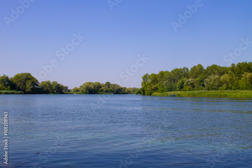 Poster Lac / Etang View on the river Dnieper