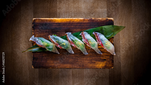 Red Snapper Sushi Wallpaper Mural