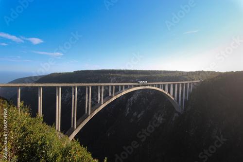 Obraz na plátne The Bloukrans Bridge is an arch bridge located near Nature's Valley, Western Cape, South Africa