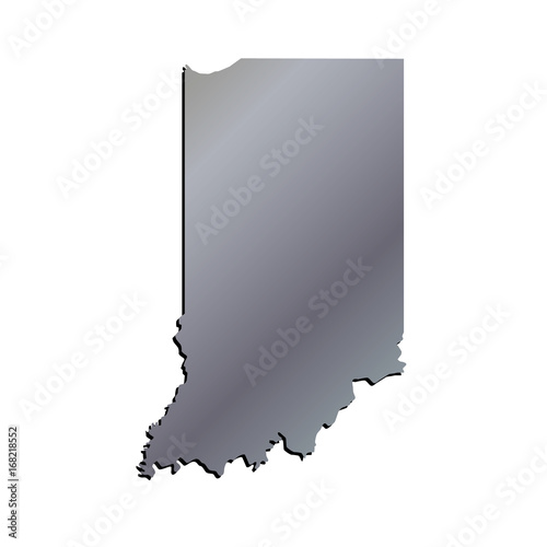 3D Indiana State USA Aluminium outline map with black shadow - Buy on united states political map usa, tulsa map usa, akron map usa, iowa map usa, indiana road map of usa, michigan map usa, new mexico map usa, oklahoma map usa, mississippi map usa, kentucky map usa, minnesota map usa, montana map usa, oregon map usa, columbia map usa, indiana city usa, virginia map usa, evansville map usa, show map of indiana usa, yale map usa, indiana on map,