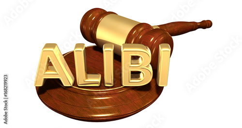 Alibi Law Concept 3D Illustration Wallpaper Mural