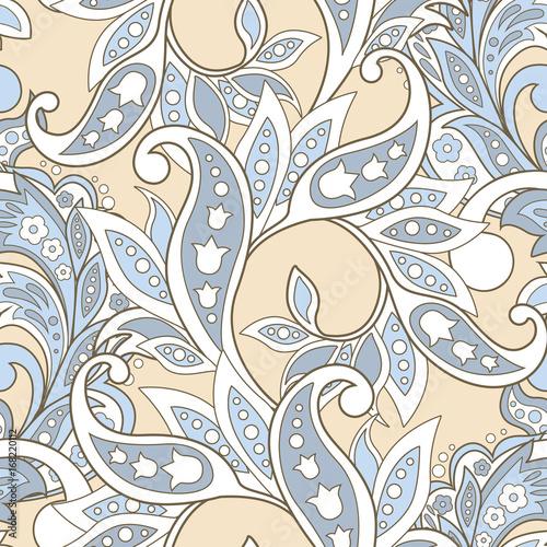 Fotografía floral vector illustration in damask style