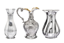Silver Vases.