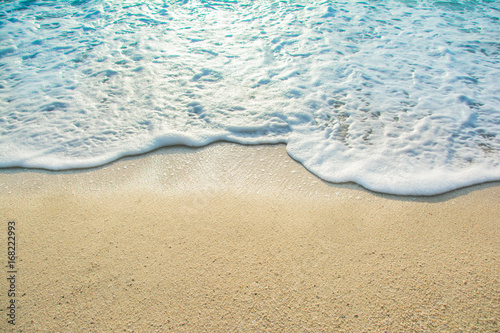 Fotografía beautiful wave of ocean on the beach