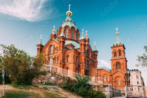 Edifice religieux Helsinki, Finland. Uspenski Orthodox Cathedral Upon Hillside On Katajanokka Peninsula Overlooking City