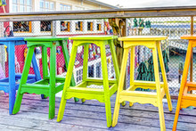 Colorful Vivid Chairs Painted ...